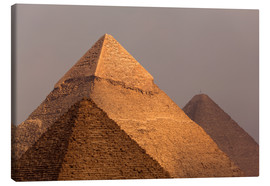 Canvas print  Pyramids of Giza, Egypt - Catharina Lux