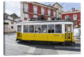 Canvas  Historic trams in the Alfama district - Axel Schmies