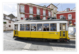 Premium poster  Historic trams in the Alfama district - Axel Schmies