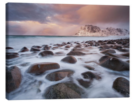 Canvas print  Coast at Utakleiv, Norway - Rainer Mirau