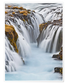 Poster  Brúarfoss River in Iceland - Rainer Mirau