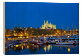 Wood print  Capital Palma on Mallorca - Chris Seba
