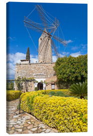 Canvas print  Windmill in Serra de Tramuntana, Mallorca - Chris Seba