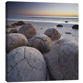 Canvas print  Moeraki Boulders, Koekohe Beach, New Zealand - Rainer Mirau