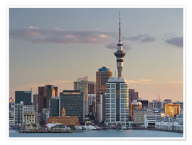 Premium poster Sky Tower and the skyline of Auckland