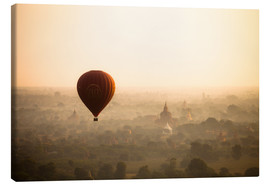 Canvas  Aerial view of the balloon over the ancient temples in Myanmar - Harry Marx