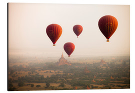 Harry Marx - Aerial view of balloons over the ancient temples in Myanmar