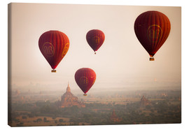 Canvas print  Aerial view of balloons over the ancient temples in Myanmar - Harry Marx