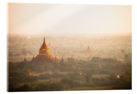 Acrylic glass  Aerial view of the ancient temples in Myanmar - Harry Marx