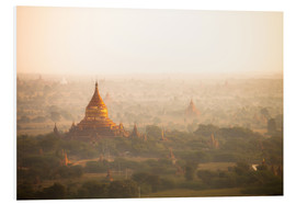 Foam board print  Aerial view of the ancient temples in Myanmar - Harry Marx