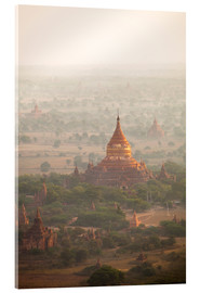 Acrylic print  Aerial view of the ancient temples in Myanmar - Harry Marx