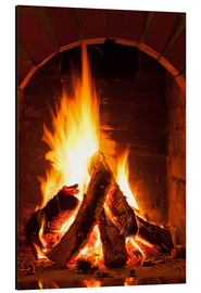 Alu-Dibond  Wood in the fireplace