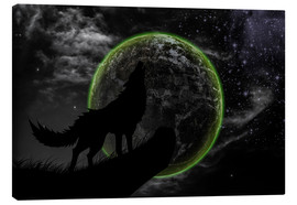 Canvas  Werewolf and scary moon