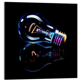 Acrylic print  Lightbulb with Reflection