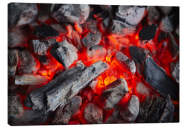 Canvas print  Open fire