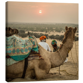 Canvas print  Sunset in the Thar Desert - Sebastian Rost