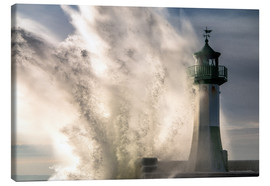 Canvas print  Winter storm in Sassnitz - Simone Splinter
