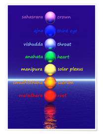 Premium poster Chakras with water