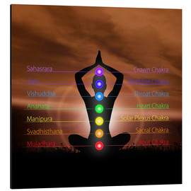Aluminium print  Chakras in evening sky
