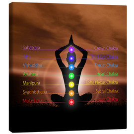 Canvas  Chakras before evening sky
