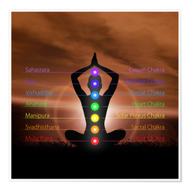 Premium poster Chakras in evening sky