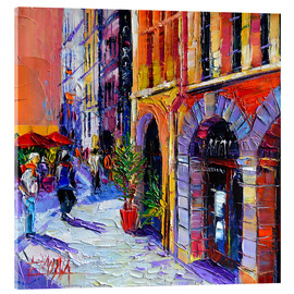 Acrylic print  A walk in Old Lyon quarter - Mona Edulesco