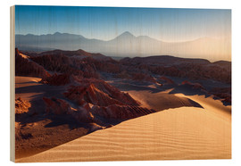 Wood print  Welcome to Mars - Michael Breitung