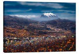 Canvas print  La Paz Night - Michael Breitung