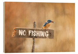 Wood print  Fishing prohibited - Dieter Meyrl
