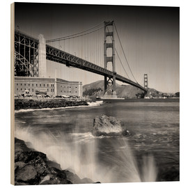Melanie Viola - Golden Gate Bridge with breakers