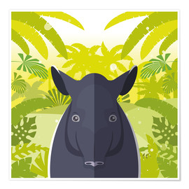 Premium poster Habitat of the Tapir
