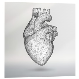 Acrylic glass  polygone heart