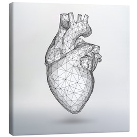 Canvas print  polygone heart