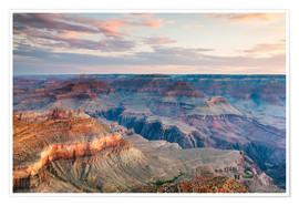 Premium poster Sunset over the Grand Canyon south rim, USA