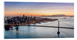 Acrylic glass  Aerial view of San Francisco at sunset, USA - Matteo Colombo