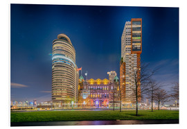 Foam board print  Rotterdam by night 2 - Remco Gielen