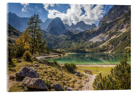 Acrylic print  Idyllic mountain lake in the Tyrol mountains (Austria) - Christian Müringer