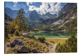 Aluminium print  Idyllic mountain lake in the Tyrol mountains (Austria) - Christian Müringer