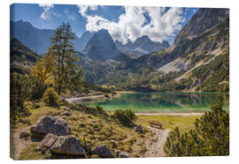 Canvas  Idyllic mountain lake in the Tyrol mountains (Austria) - Christian Müringer