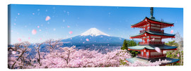 Canvas  Chureito pagoda with Mount Fuji in the spring, Fujiyoshida, Japan - Jan Christopher Becke