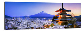 Aluminium print  Chureito pagoda with Mount Fuji in spring, Fujiyoshida, Japan - Jan Christopher Becke