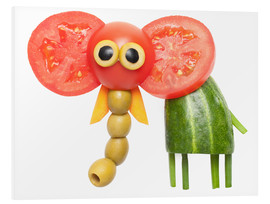 Foam board print  Vegetable animals - elephant