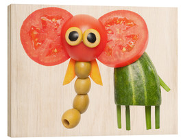 Wood print  Vegetable animals - elephant