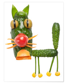 Premium poster  Vegetable animals - cat