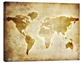 Canvas  Vintage World Map