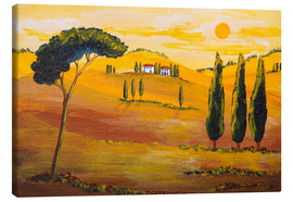 Canvas print  Sunshine in Tuscany in the Morning - Christine Huwer