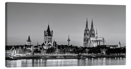 Canvas print  Magnificent Cologne black and white - Michael Valjak