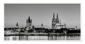 Premium poster  Magnificent Cologne black and white - Michael Valjak