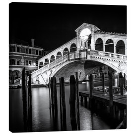 Canvas print  VENICE Rialto Bridge at Night - Melanie Viola