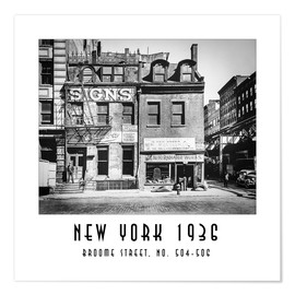 Premium poster Historic New York - Broome Street